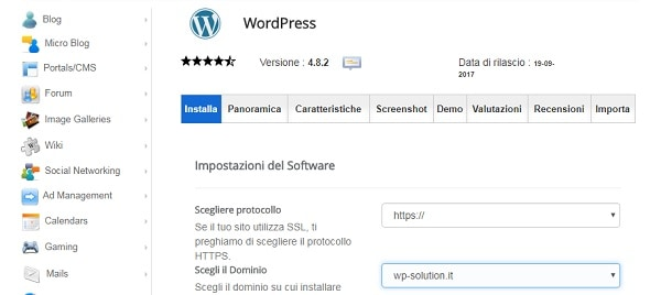 creare sito wordpress su Siteground