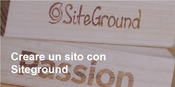 creare un sito con siteground