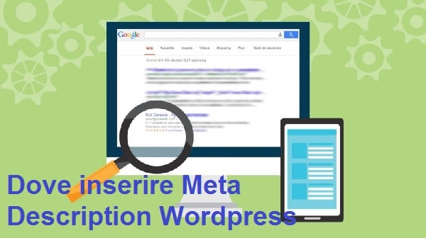 dove inserire meta description wordpress