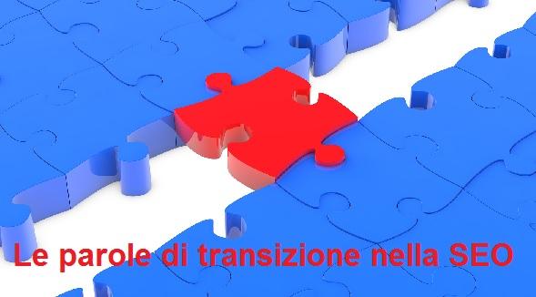 aggiungere parole di transizione
