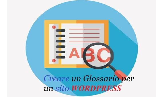 creare un glossario sito wordpress