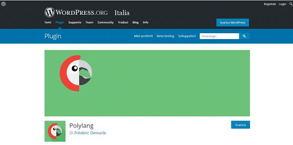 polylang plugin traduzione
