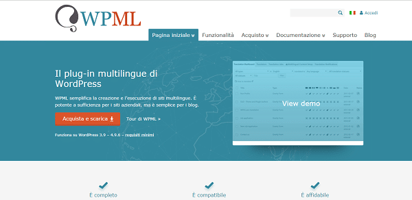 wpml plugin traduzione wordpress