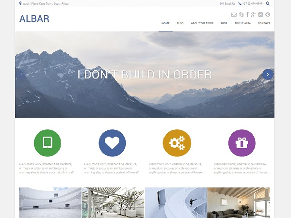 albar tema gratuito wordpress