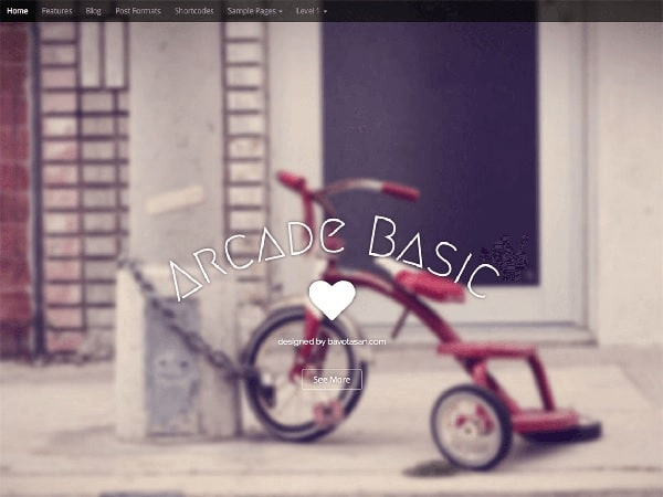 arcade tema gratis wordpress