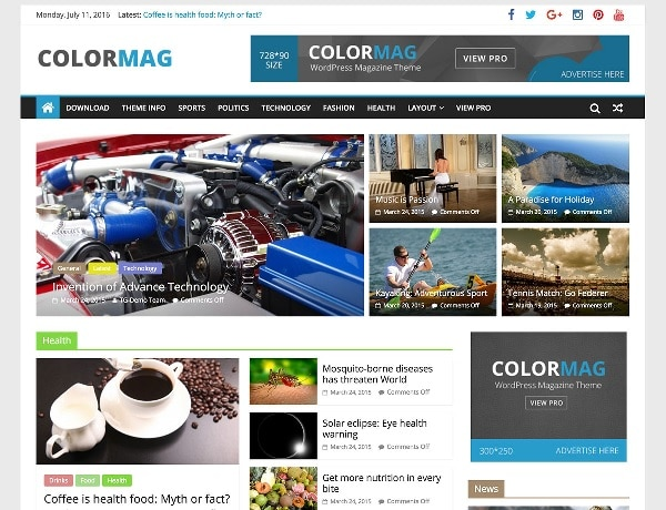 colormag temi wordpress gratuiti