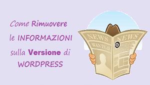 rimuovere la versione wordpress