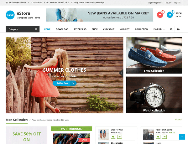 estore tema gratis wordpress