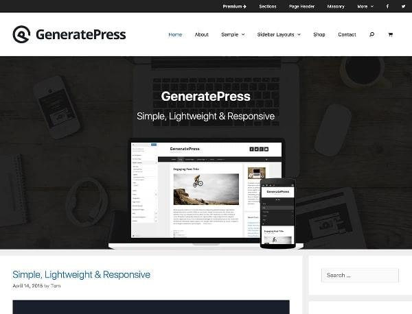 generate press tema free