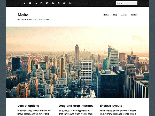make theme wordpress gratis