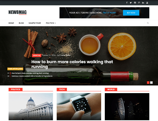 newsmag lite tema wordpress gratuito