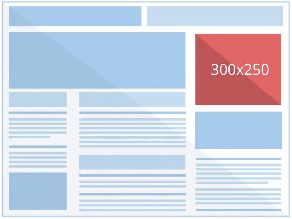 banner adsense rettangolo medio (300 × 250)