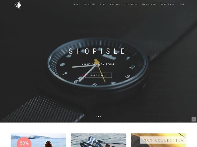 shopisle temi wordpress gratis