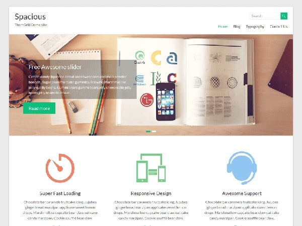 spacious temi gratis per wordpress