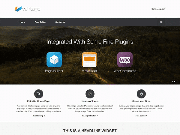 vantage temi wordpress free