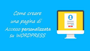 wordpress login personalizzata