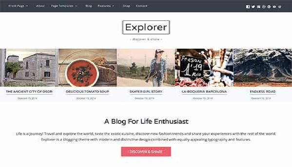 explorer template blog viaggi