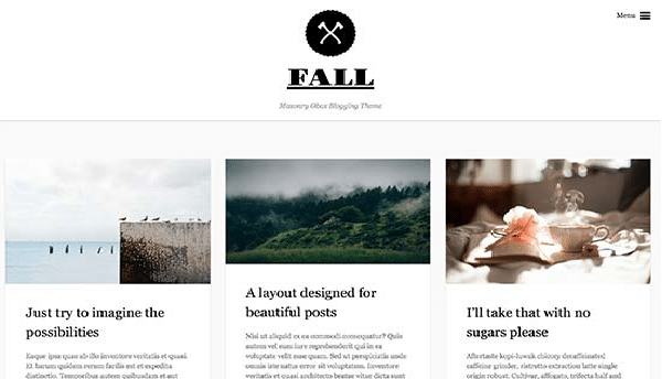fall tema wordpress travel blog