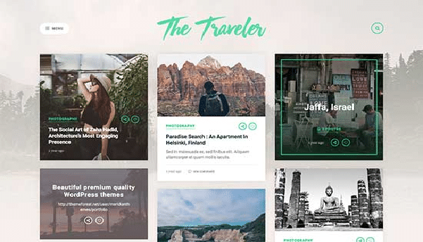 the traveler tema wordpres viaggi