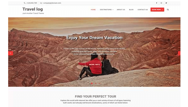 travel log tema wordpress