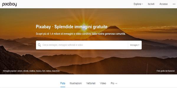 pixabay , immagini gratis per sfondi