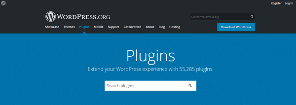 ricercare un plugin dalla repository wordpress