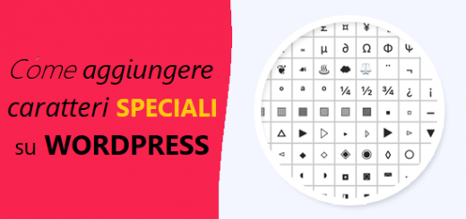 aggiungere caratteri speciali wordpress