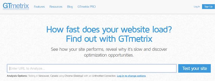 test velocità sito web coogle