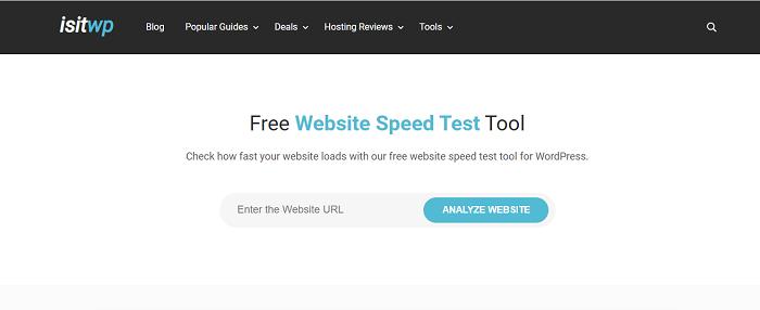 test velocità sito web
